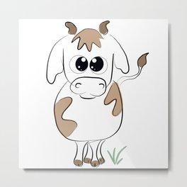Cute cow Metal Print