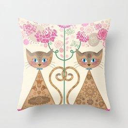 We Are Siamese Throw Pillow