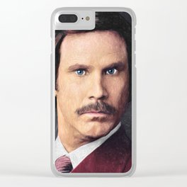 Ron Burgundy Clear iPhone Case