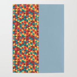 Retro Bicolore Geometric Design Poster