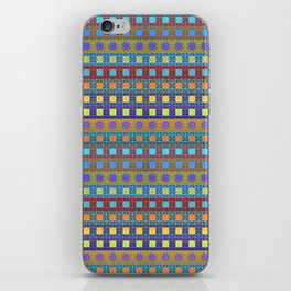 Retro Colors Geometric Stripes iPhone Skin