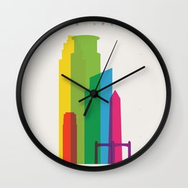 Shapes of Minneapolis Wall Clock