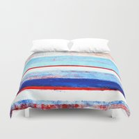 stripes Duvet Covers featuring Stripes by T30 Gallery