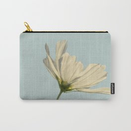 white cosmea Carry-All Pouch