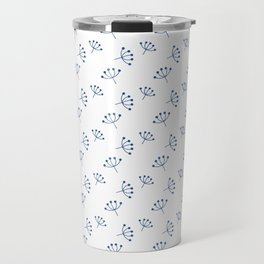 Blue Queen Anne's Lace pattern Travel Mug