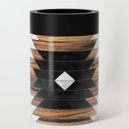 Urban Tribal Pattern No.5 - Aztec - Concrete and Wood Can Cooler