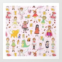 Cutest Cardcaptor! Cardcaptor Sakura Doodle Art Print