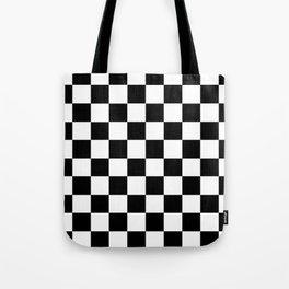Black White Checker Tote Bag