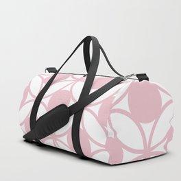 Geometric Orbital Spot Circles In Pastel Pink & White Duffle Bag