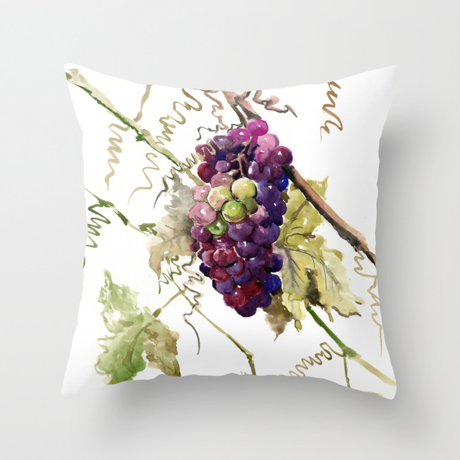 Grapes California Vineyard Wine Lover Design Throw Pillow By Sureart Society6