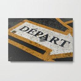 Concrete start - Paris Metal Print