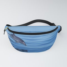 Spotted dolphin jumping in the Atlantic ocean Fanny Pack