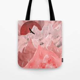 The red mountains Tote Bag