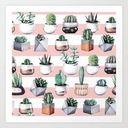 Cactus Pattern 02 Art Print