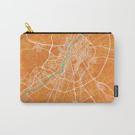 Valladolid, Spain, Gold, Blue, City, Map Carry-All Pouch