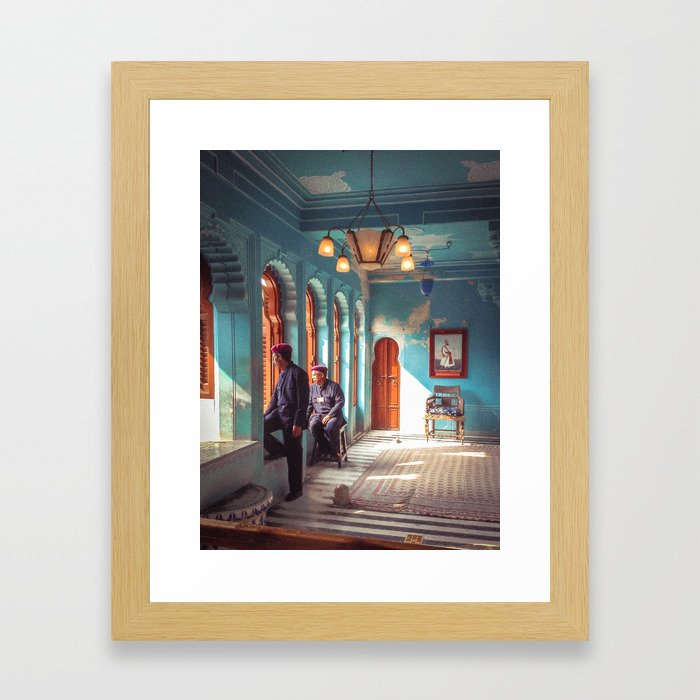 Indian Palace Gaurds Framed Art Print