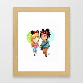 Date at Disneyland Framed Art Print