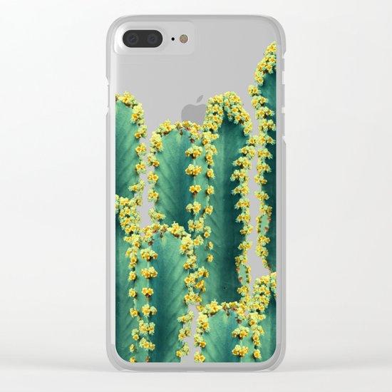 Adorned Cactus || #society6 #buyart #decor Clear iPhone Case