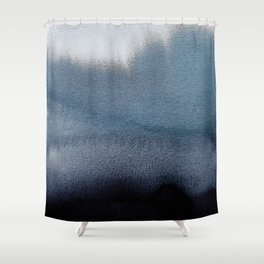 In Blue Shower Curtain