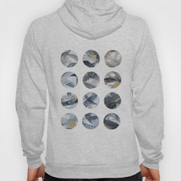 Gray and Gold Abstract Space Dots Hoody