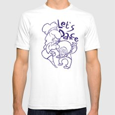 Let's Dance SMALL White Mens Fitted Tee