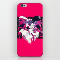 lebron iPhone & iPod Skins featuring LEBRON 2 TIME CHAMPION by mergedvisible