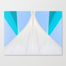Abstract Sailcloth c2 Canvas Print