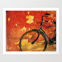cycle Art Prints featuring cycle by Vani