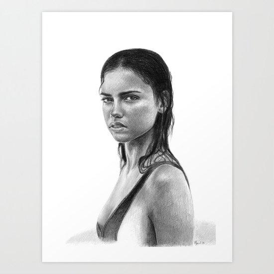 Adriana Lima Art Print