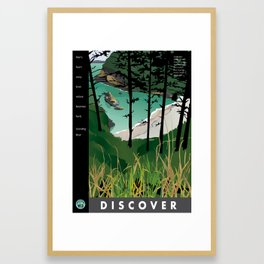 Discover Dead Man's Cove with quotes Framed Art Print