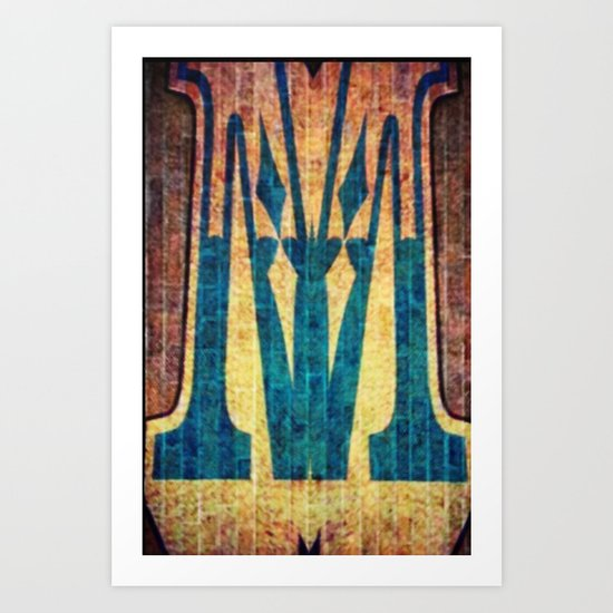 M of Spade  Art Print