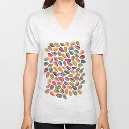 Leaf Colorful Unisex V-Neck