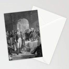 Washington Meeting His Generals Stationery Cards