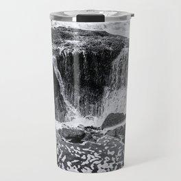 Thor's Well, No. 3 bw Travel Mug