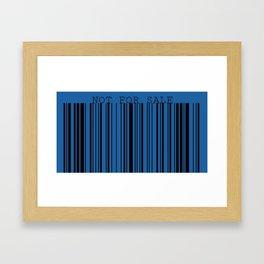 Not For Sale barcode Framed Art Print