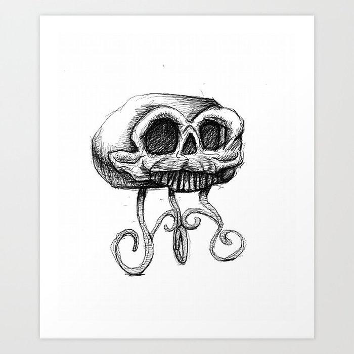 MANTLE skull Art Print