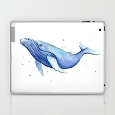 Humpback Whale Watercolor Animal Painting Nursery Animals Laptop & iPad Skin