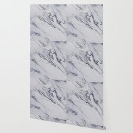 Marble - Black and White Gray Swirled Marble Design Wallpaper