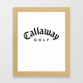 Callaway Golf Logo Football T-Shirts Framed Art Print
