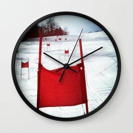 Racing Gates Wall Clock