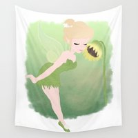 fairy Wall Tapestries featuring fairy by Tati