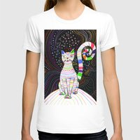 space cat T-shirts featuring Space cat by ezgi karaata