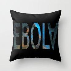 Spacey Ebola Throw Pillow