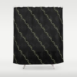 Gold Ribbon Shower Curtain