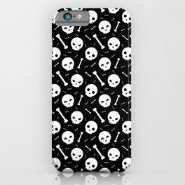 Skulls, skulls, skulls... and bones - Black iPhone Case