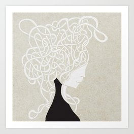 Iconia Girls - Ella Sand Art Print