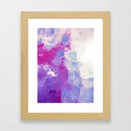 Agate Slice Framed Art Print