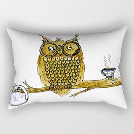 Overly Caffeinated Owl Rectangular Pillow