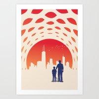 skyline Art Prints featuring Skyline by Jay Fleck