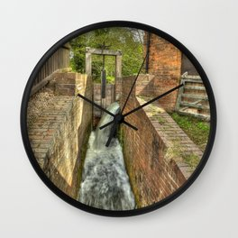 Sluice Gate at the Water mill Wall Clock
